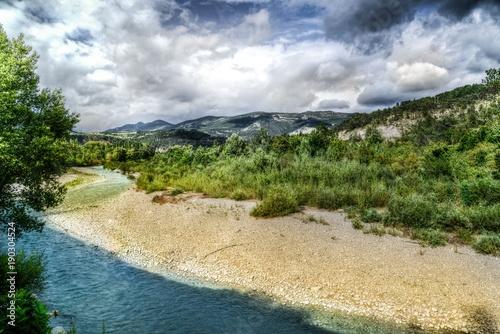 Staande foto Beige sahil kenarı