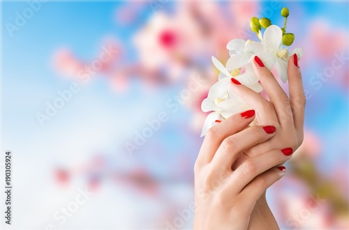 Fotobehang Manicure Fingernail.