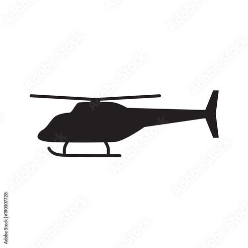 Fototapeta helicopter icon- vector illustration