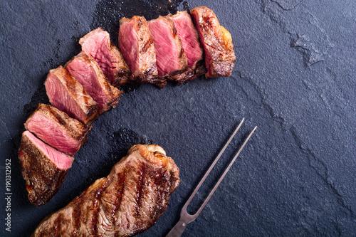 Foto op Aluminium Steakhouse Grilled New York steak