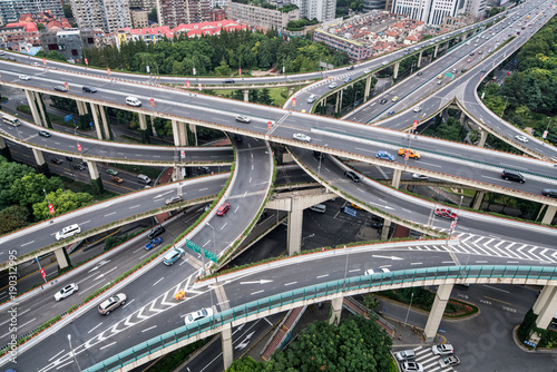 Foto op Aluminium Shanghai Kreuzung in Shanghai, China