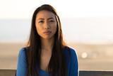 Young Asian woman serious face  - 190317301