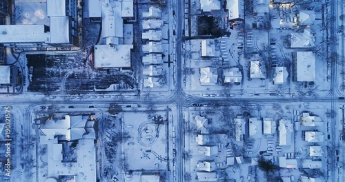 Minneapolis - Snowfall - Aerial