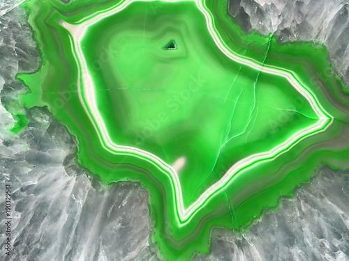 Zielony Geode Slice Kamień Tle