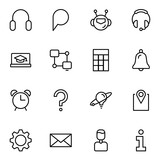 Technical support flat icon - 190336980