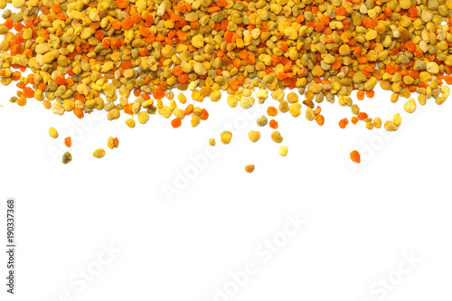 Honey bee pollen isolated on white background. top view © Dmytro