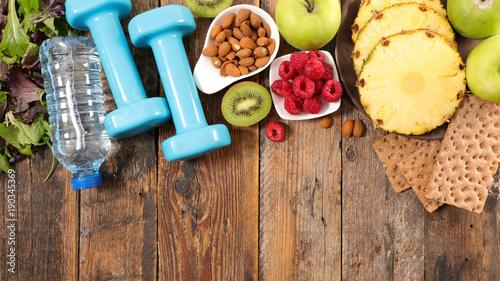 Plexiglas Fitness healthy lifestyle, fitness