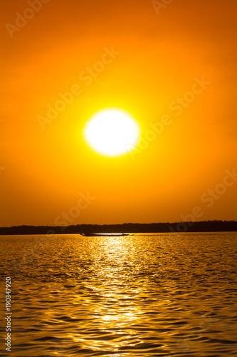 Keuken foto achterwand Honing coucher de soleil