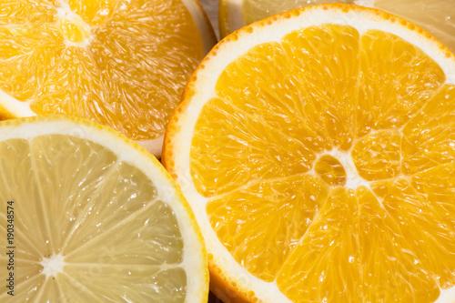 Slides of orange and limon.