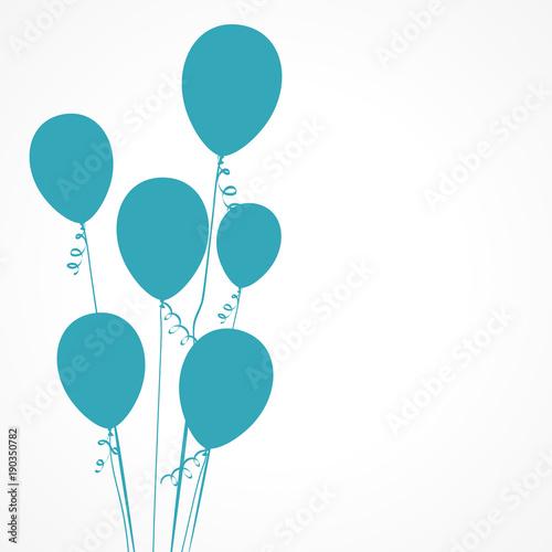 Tuinposter Bol carte ballon bleu