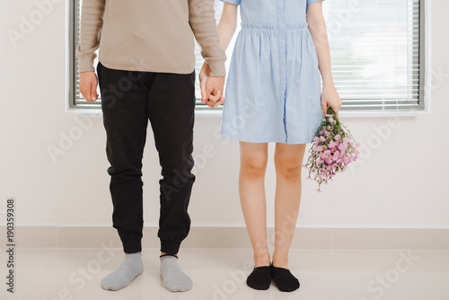 Couple in love. Young couple standing together