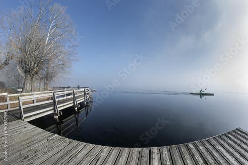 Plexiglas Pier Lago Di Varese - Varese Lake