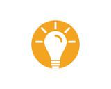 light bulb symbol logo template - 190368993