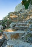 summer stone stairs - 190376351