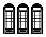 Telephone Booth vector icon