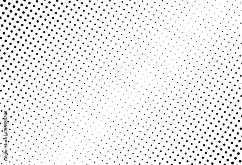 Fotobehang Pop Art Abstract monochrome halftone pattern. Comic background. Dotted backdrop with circles, dots, point.