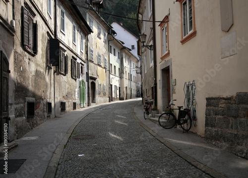 Fotobehang Fiets a old street in slovia