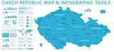 Czech Republic Map - Info Graphic Vector Illustration - 190385981