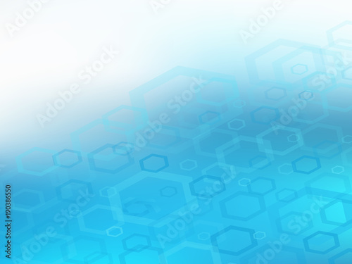 Fototapeta Abstract high resolution faded blue hexagon design background template perfect for various websites, artworks, graphics, cards, banners, ads and much more. Plenty of space for text.