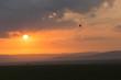 balloon against the clouds of a sunrise, Maasai Mara, Kenya - 190387147
