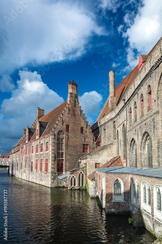 Keuken foto achterwand Brugge The Hospital of St. John and waterway in Bruges