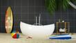 Badewanne Spa Wellness Urlaub Konzept