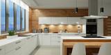 Beleuchtung in weißer Küche bei Nacht - 190397999
