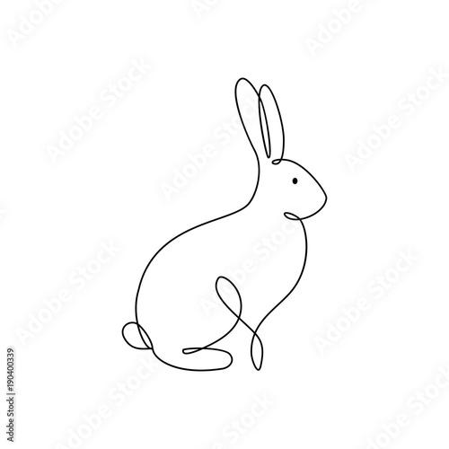 One line rabbit