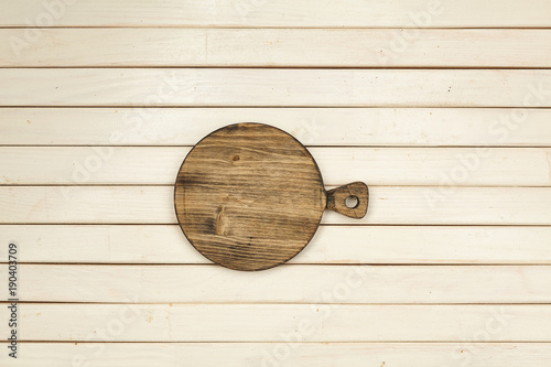 Tuinposter Hout Cutting board. Wooden. Cooking. Kitchen. For your design.