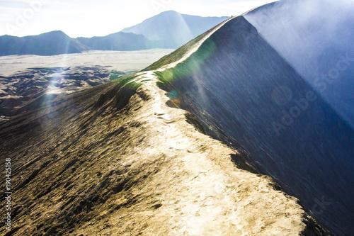 Staande foto Beige grań wulkanu