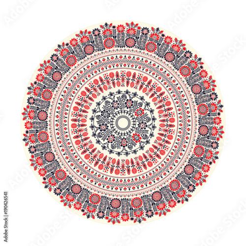 tradycyjny-wegierski-okragly-element-dekoracyjny-wektor