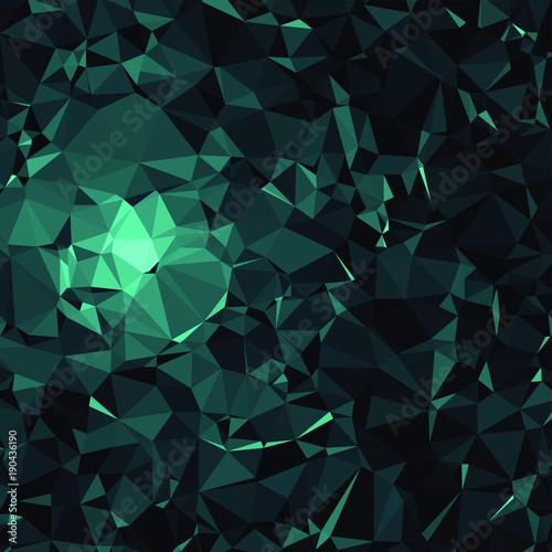 Dark Blue Poly Triangle Pattern