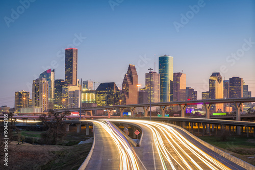 Houston, Texas, USA Skyline and Highway
