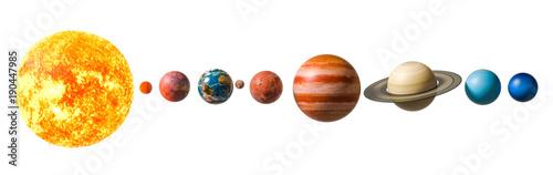 Fototapeta Planets of the solar system, 3D rendering