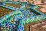 high angle view of a traditional moroccan fountain in Hassan II mosque - Casablanca - Morocco - 190449964