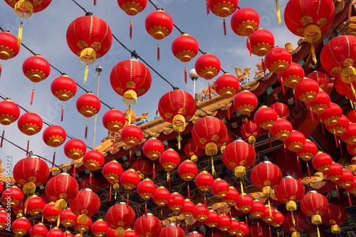 Fotobehang Kuala Lumpur Red lanterns at Thean Hou Temple, Kuala Lumpur Malaysia
