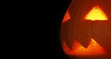 Halloween pumpkin on black background - 190455328