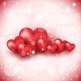 Abstract background to the Valentine`s day. - 190458146