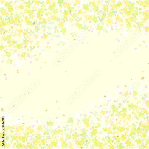 黄色い小花柄フレーム - 190460178