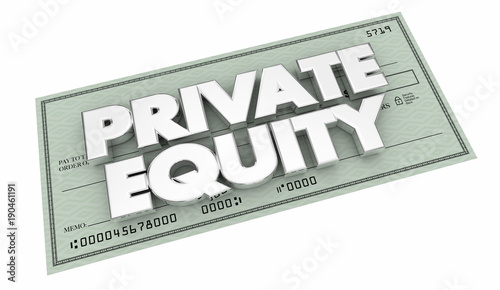 Private Equity Money Check Investment Funding 3d Illustration