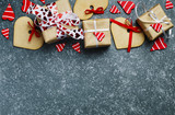 Gift boxes with deco...