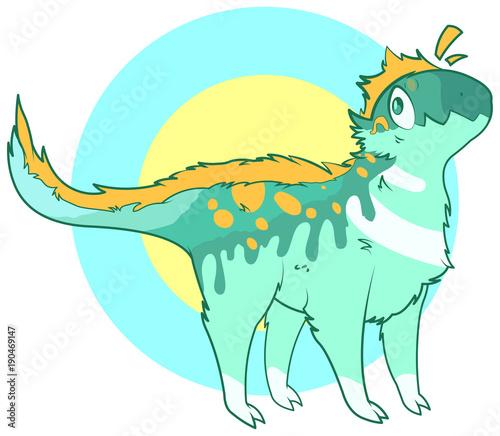 Foto op Canvas Sprookjeswereld Cute dinosaur