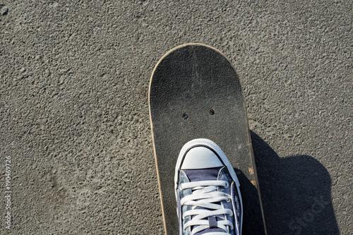 Fotobehang Skateboard skateboard on start
