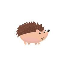 Cute Hedgehog Woodland Cartoon Animal  Illustration Sticker