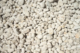 Naturally polished white rock pebbles background - 190481761