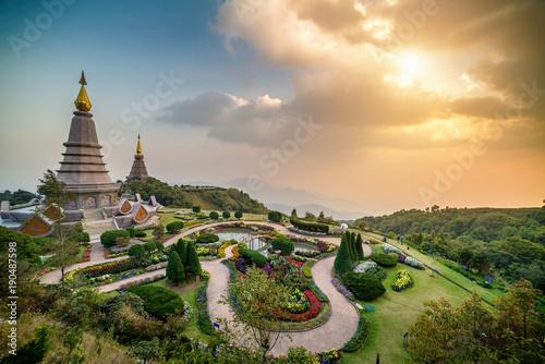 Fotobehang Thailand View point of Doi Inthanon National park, at Chiang Mai Thailand.