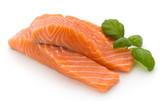 Fresh salmon fillet ...