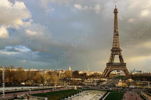Tuinposter Eiffeltoren Golden tower