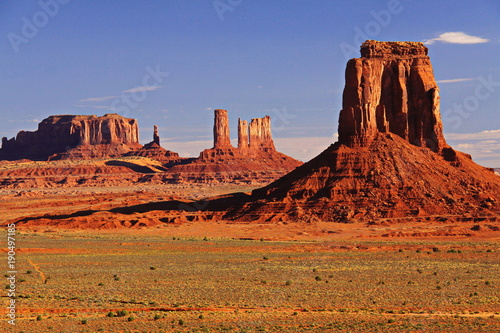 Rocks in Monument Valley in Utah in the USA