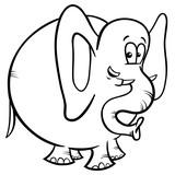 elephant cartoon character coloring book